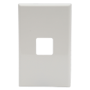 600 Series Single Gang Switch Grid and Cover plate Only White