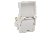600 Series 16A Hing Flap Switch Mech White