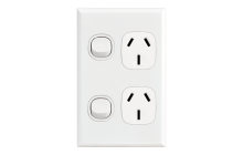 Home Double Vertical Socket Outlet White