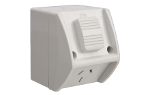 Weatherproof Single IP53 Outlet Grey Heavy Duty